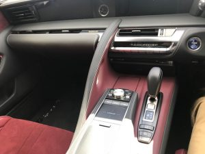 lexus lc500h touch pad and centre console