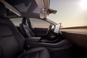 Tesla model3 dashboard