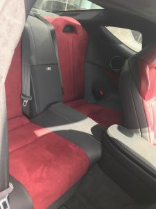 lexus lc500h rear seats