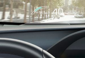Prius PHEV Heads up display