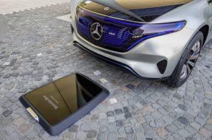 Mercedes EQ ground charging point