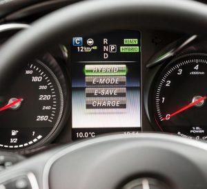 Mercedes 350-e driver instruments