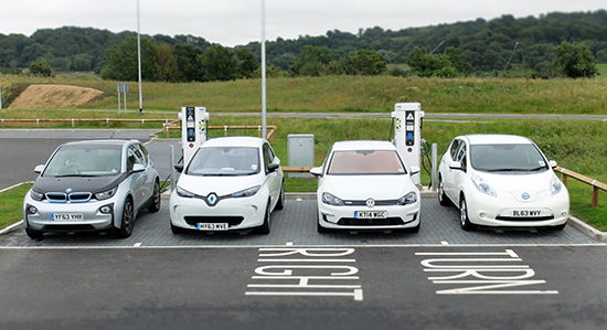 electric car charging rapid charging station