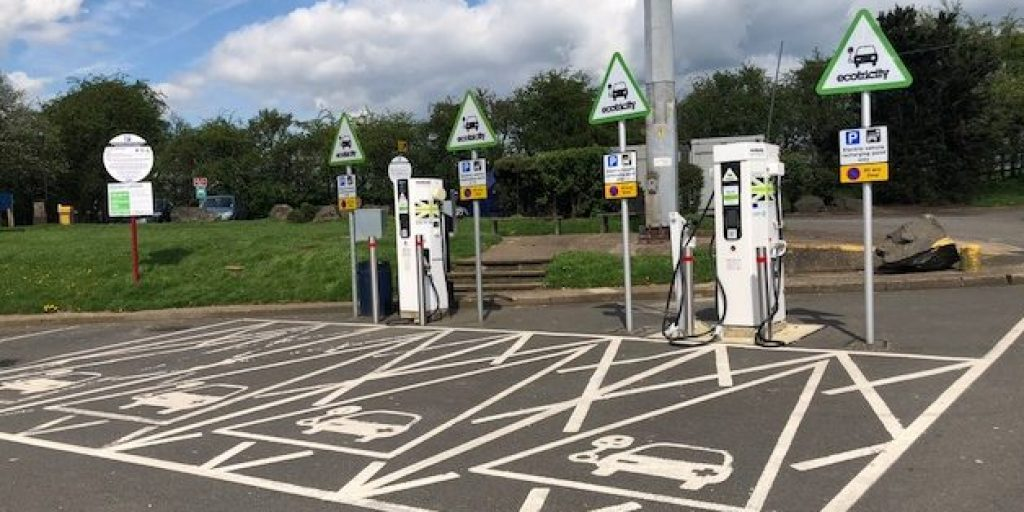 motorway station electric vehicle charge points