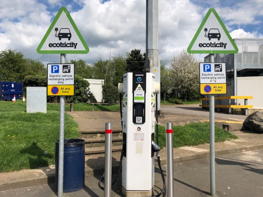 motorway charge point