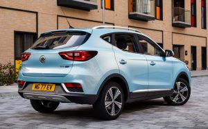 MG ZS EV back