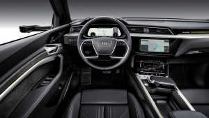 audi e-tron drivers view