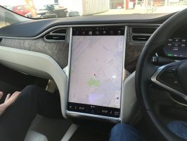 tesla touch screen